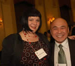 Judge Cheryl Albrecht and Trung Tu