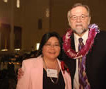 Stella Manabe and Judge Richard Baldwin